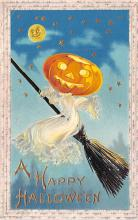 hol014165 - Halloween Post Card Old Vintage Antique