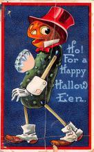 hol014167 - Halloween Post Card Old Vintage Antique