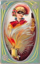 hol014169 - Halloween Post Card Old Vintage Antique