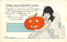 hol014181 - Halloween Post Card Old Vintage Antique