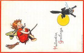 hol014201 - Halloween Post Card Old Vintage Antique