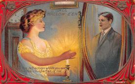 hol014205 - Halloween Post Card Old Vintage Antique