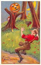 hol014213 - Halloween Post Card Old Vintage Antique
