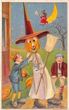 hol014215 - Halloween Post Card Old Vintage Antique