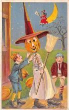 hol014215 - Halloween Post Card Old Vintage Antique