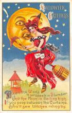 hol014221 - Halloween Post Card Old Vintage Antique