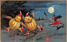 hol014223 - Halloween Post Card Old Vintage Antique