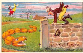 hol014225 - Halloween Post Card Old Vintage Antique