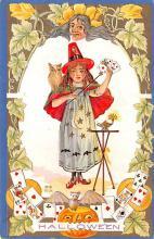 hol014227 - Halloween Post Card Old Vintage Antique