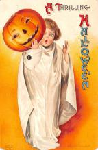 hol014229 - Halloween Post Card Old Vintage Antique