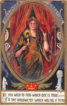 hol014231 - Halloween Post Card Old Vintage Antique