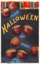 hol014233 - Halloween Post Card Old Vintage Antique