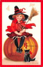 hol014237 - Halloween Post Card Old Vintage Antique