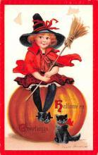 hol014237 - Halloween Post Card Old Vintage Antique