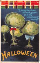 hol014249 - Halloween Post Card Old Vintage Antique