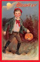 hol014253 - Halloween Post Card Old Vintage Antique