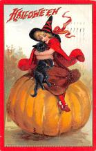 hol014255 - Halloween Post Card Old Vintage Antique