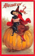 hol014255 - Halloween Post Card Old Vintage Antique