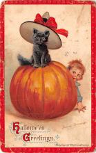 hol014259 - Halloween Post Card Old Vintage Antique