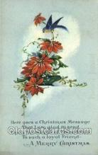 hol015108 - Merry Christmas Old Vintage Antique Postcard Post cards