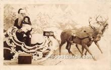 hol016004 - Santa Claus Postcard Old Vintage Christmas Post Card