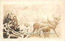 hol016006 - Santa Claus Postcard Old Vintage Christmas Post Card