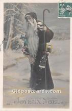 hol016011 - Santa Claus Postcard Old Vintage Christmas Post Card