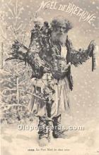 hol016013 - Santa Claus Postcard Old Vintage Christmas Post Card