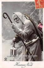 hol016015 - Santa Claus Postcard Old Vintage Christmas Post Card