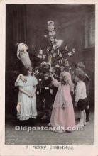 hol016016 - Santa Claus Postcard Old Vintage Christmas Post Card