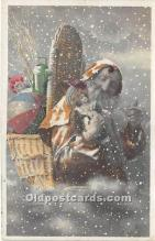 hol016020 - Santa Claus Postcard Old Vintage Christmas Post Card