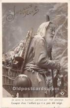 hol016021 - Santa Claus Postcard Old Vintage Christmas Post Card