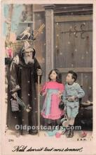 hol016022 - Santa Claus Postcard Old Vintage Christmas Post Card