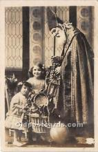 hol016025 - Santa Claus Postcard Old Vintage Christmas Post Card
