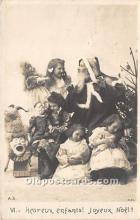 hol016026 - Santa Claus Postcard Old Vintage Christmas Post Card