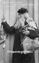 hol016028 - Santa Claus Postcard Old Vintage Christmas Post Card