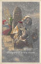 hol016029 - Santa Claus Postcard Old Vintage Christmas Post Card