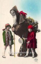 hol016032 - Santa Claus Postcard Old Vintage Christmas Post Card