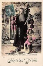 hol016033 - Santa Claus Postcard Old Vintage Christmas Post Card