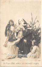 hol016035 - Santa Claus Postcard Old Vintage Christmas Post Card