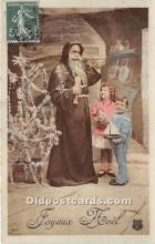 hol016036 - Santa Claus Postcard Old Vintage Christmas Post Card