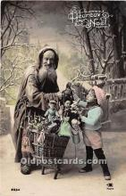 hol016037 - Santa Claus Postcard Old Vintage Christmas Post Card
