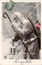 hol016038 - Santa Claus Postcard Old Vintage Christmas Post Card