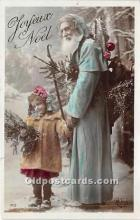 hol016039 - Santa Claus Postcard Old Vintage Christmas Post Card