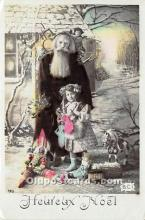 hol016040 - Santa Claus Postcard Old Vintage Christmas Post Card