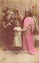 hol016041 - Santa Claus Postcard Old Vintage Christmas Post Card