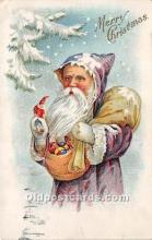 hol016052 - Santa Claus Postcard Old Vintage Christmas Post Card