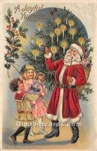 hol016055 - Santa Claus Postcard Old Vintage Christmas Post Card