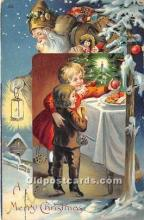 hol016056 - Santa Claus Postcard Old Vintage Christmas Post Card