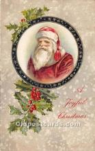 hol016060 - Santa Claus Postcard Old Vintage Christmas Post Card